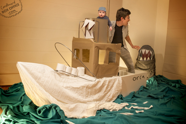 Couple Recreate Movie Moments with Baby and Cardboard Boxes