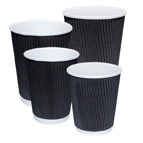 Yellow Pink 100 X 12oz Colouring Paper Cups Kraft Cups Disposable Cups Disposable Coffee Cups Triple Layered Ripple Cups for Hot Drink Blue /& White Blue Green