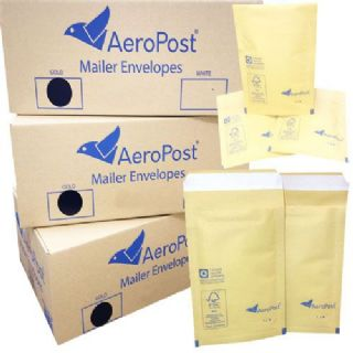 GOLD BROWN PADDED BUBBLE LINED ENVELOPES SIZE 7 230 X 340mm pack of 50